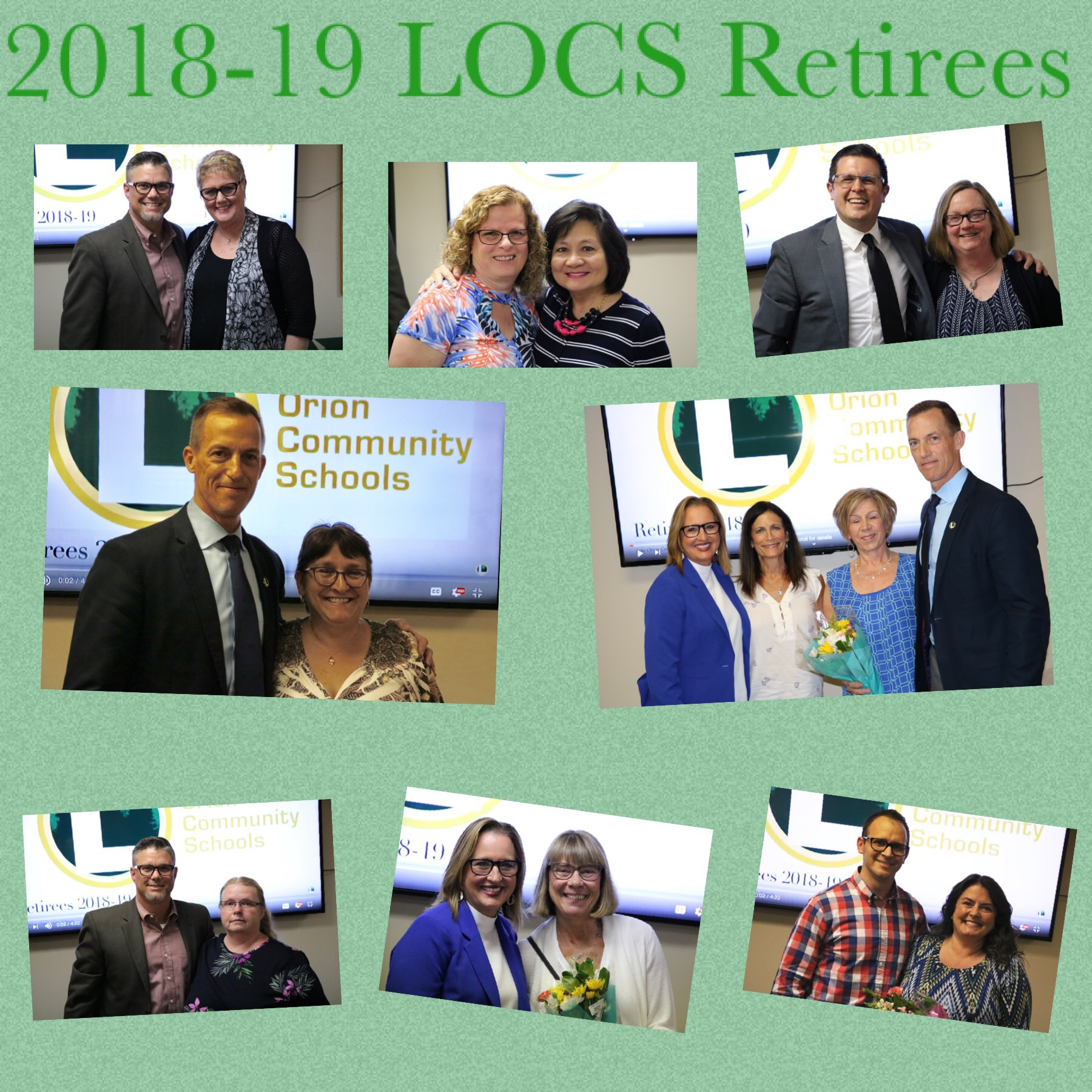 LOCS honors 17 retiring staff members