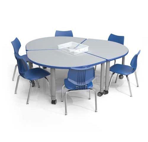 Sectional table and chairs