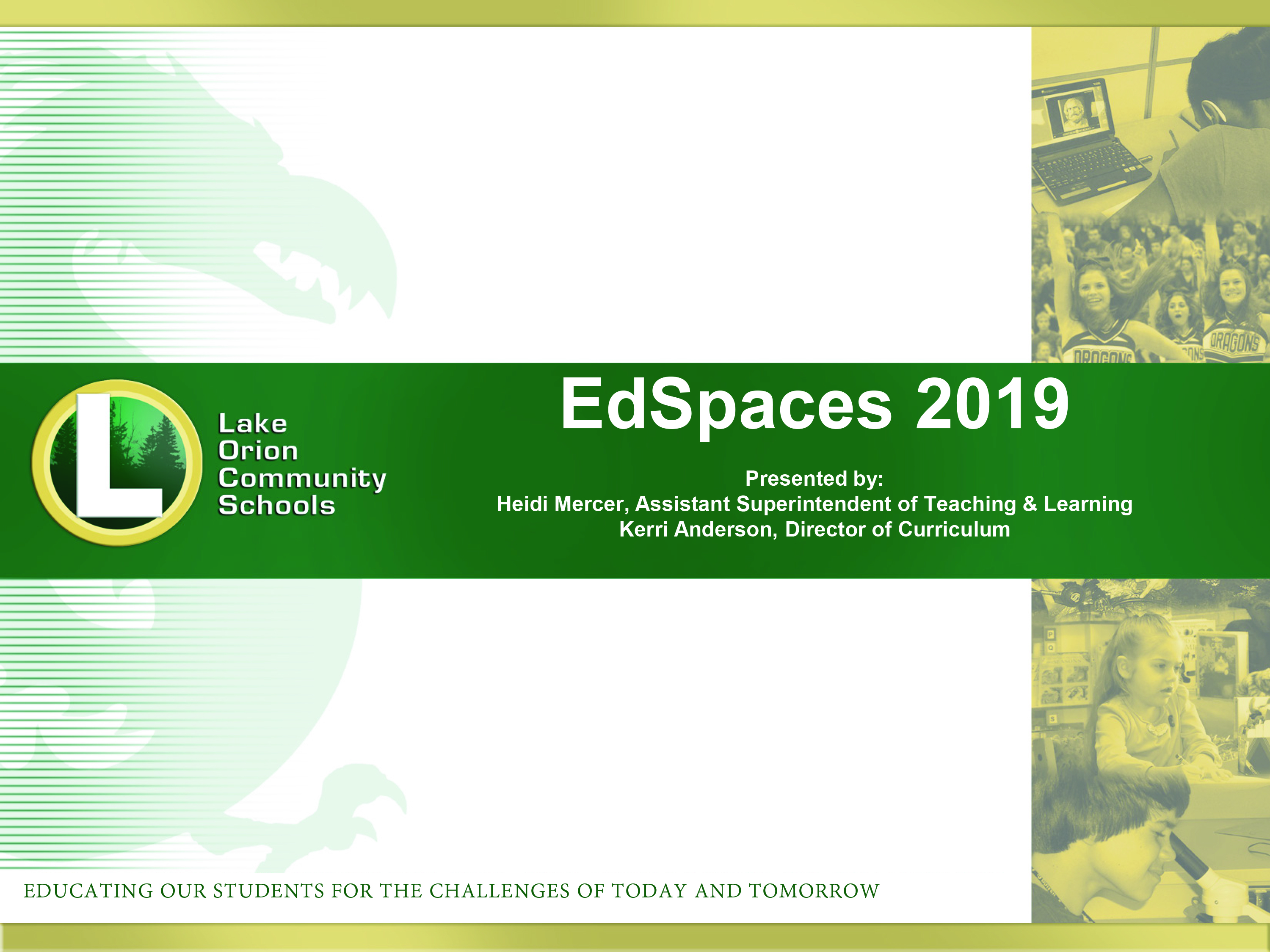 Ed Spaces conference title screen