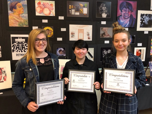 Three LOHS Art Students earn Orion Art scholarships
