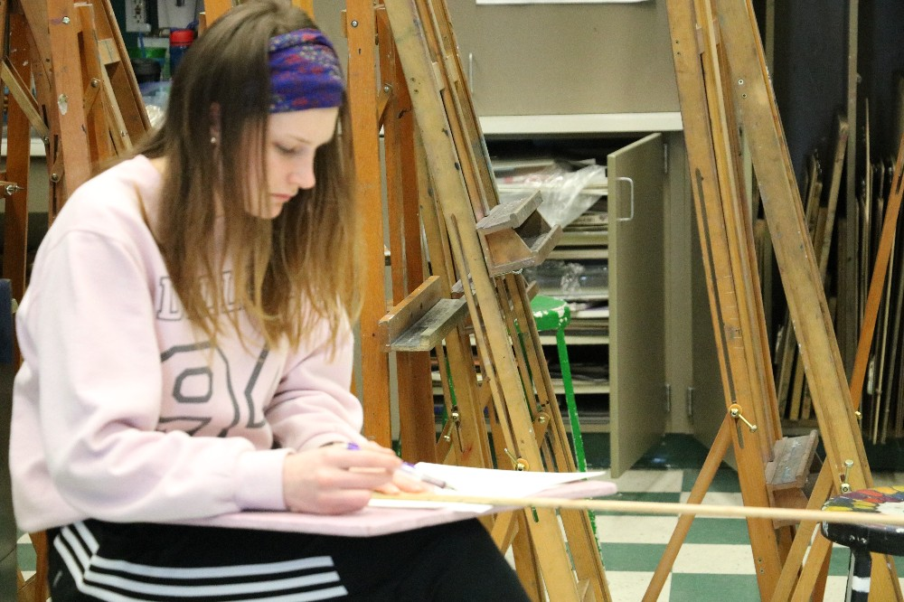 Students in art