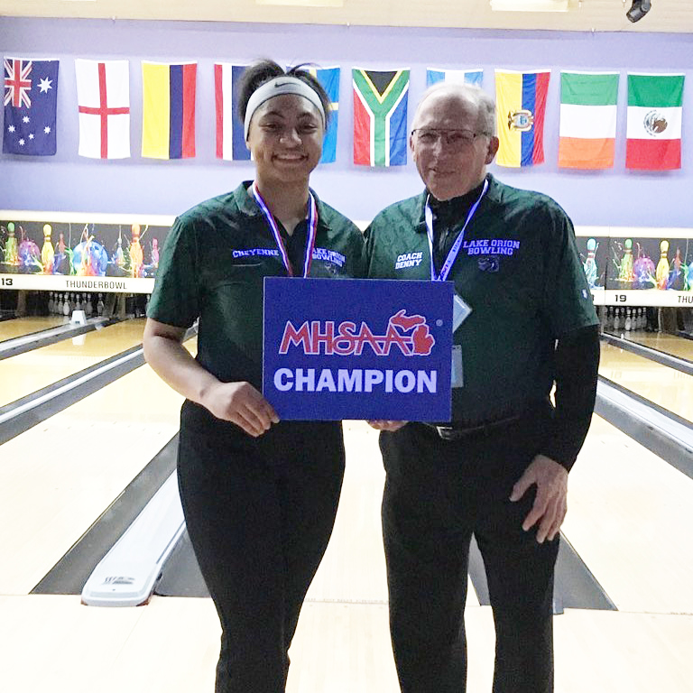 LOHS senior Cheyenne Washington wins girls state bowling title