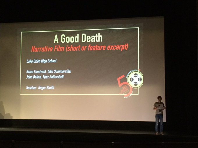 LOHS STUDENTS WIN AWARDS, MR. SMITH NAMED TEACHER OF THE YEAR AT DAFT FILM FESTIVAL