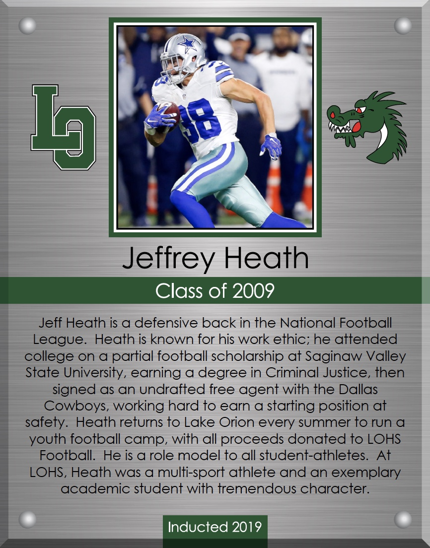 Jeff Heath plaque