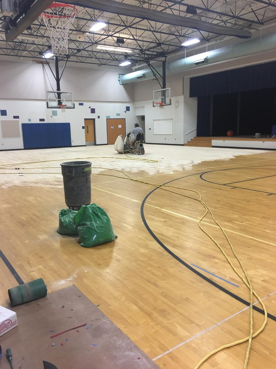 Paint Creek Gym Floor
