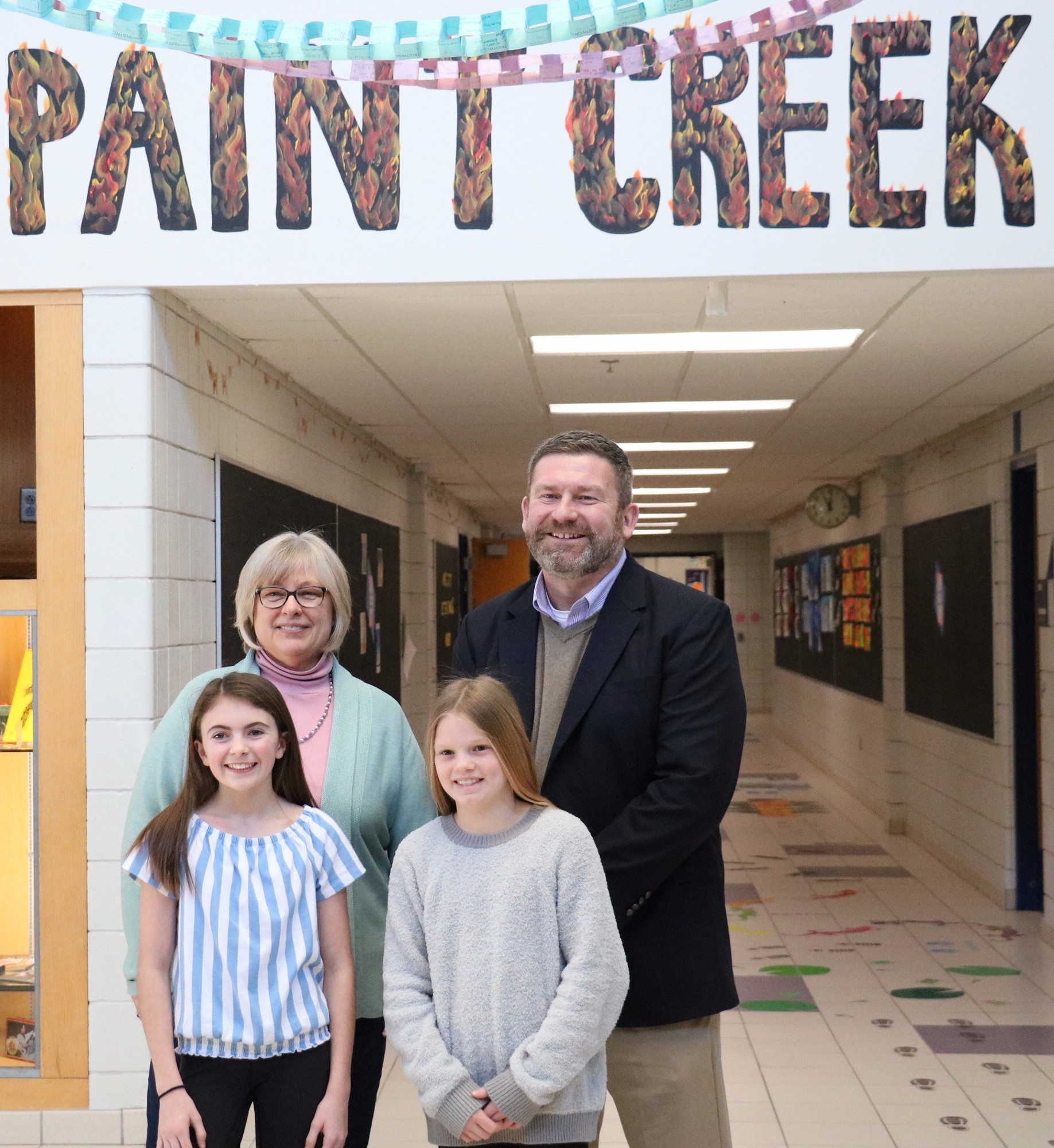 Sen. Bayer visits Paint Creek, learns about engineering, art, and shares about government
