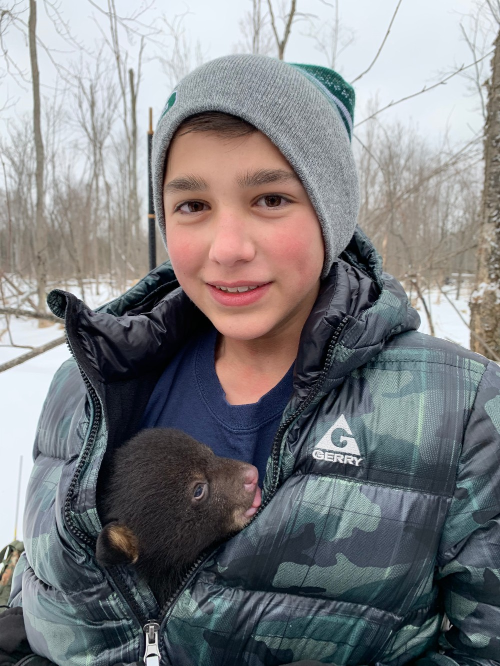Waldon student helps with bear cubs