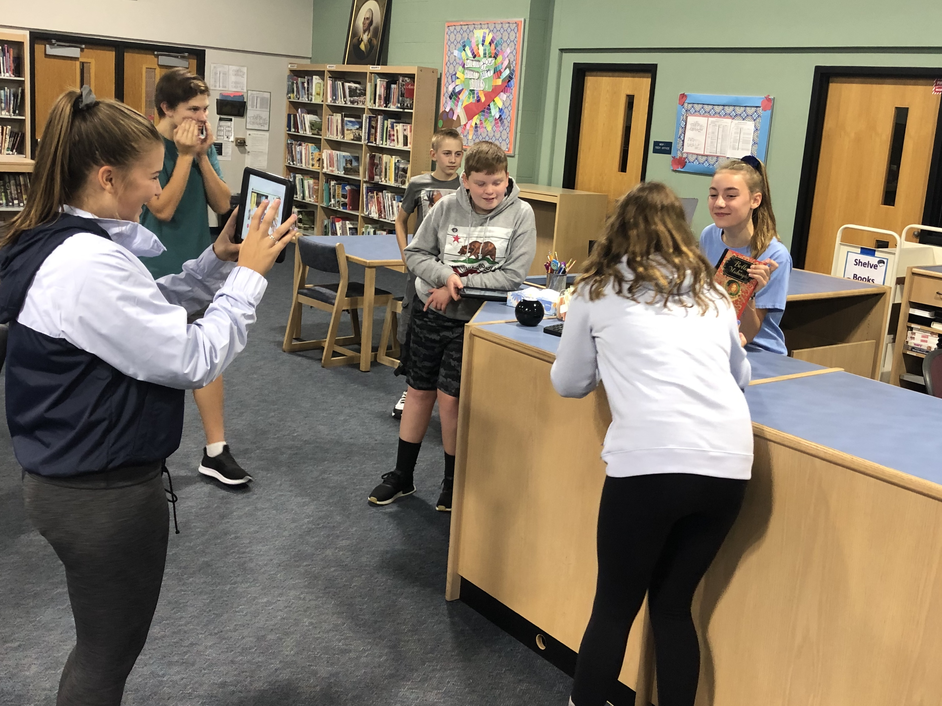Students Demonstrate Their Media Center Knowledge