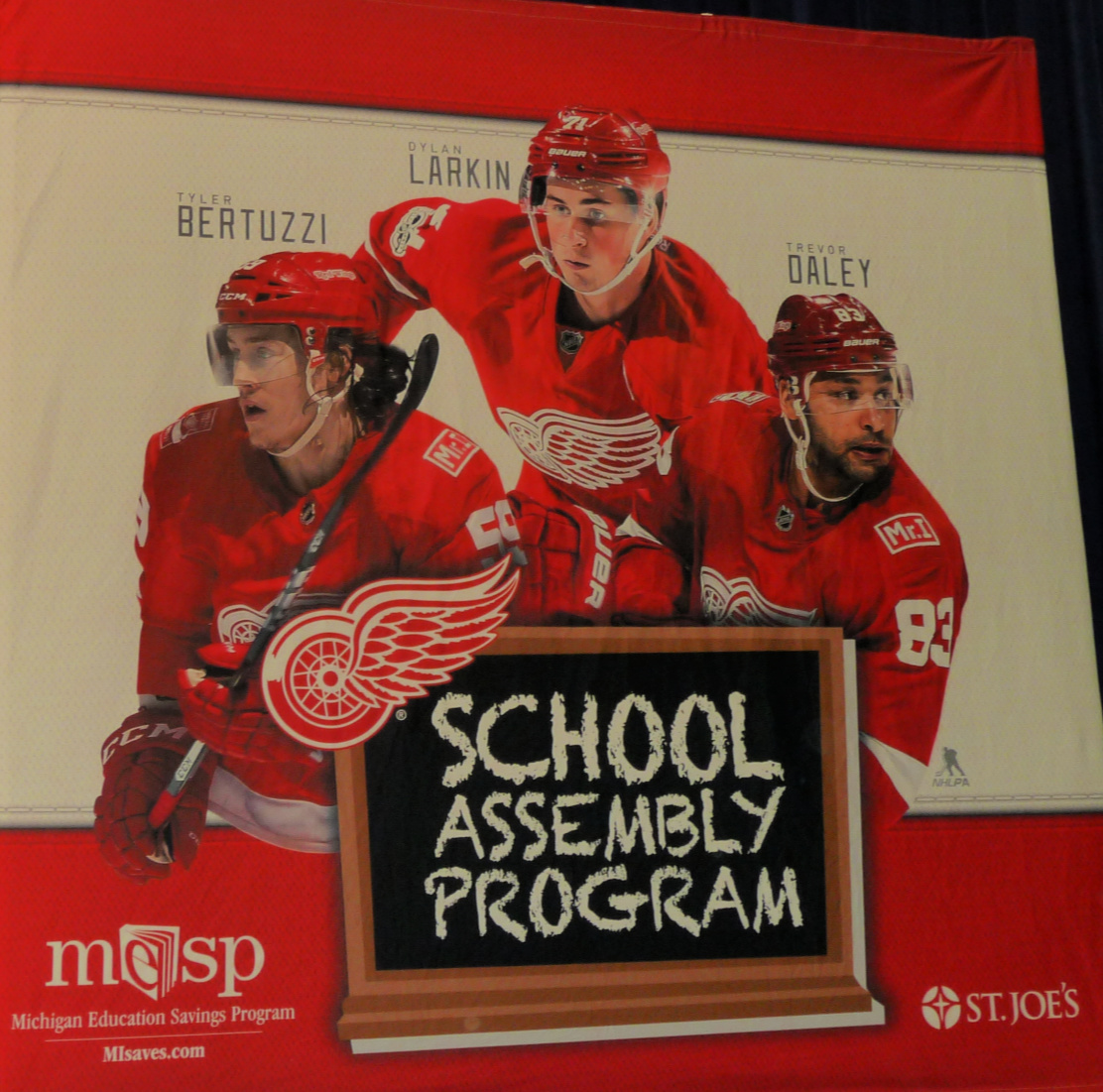 Webber Elementary hosts Detroit Red Wings School Assembly